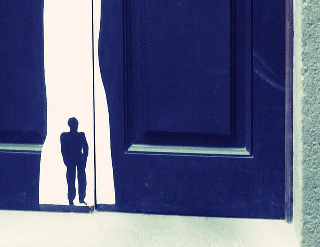 ...blue man...