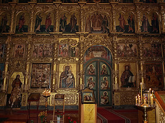 P7120562ac Uglich Orthodox Cathedral of our Savior  Transfiguration 1713 Iconostasis