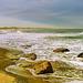 Rocky shoreline in Rhode Island