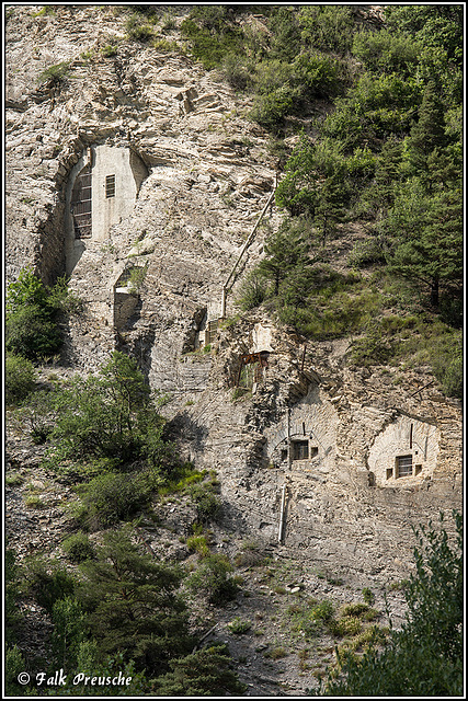 Unterer Teil des Fort Tournoux