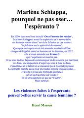 "Dua titolpaĝo / Seconde page de titre : ""Marlène Schiappa, pourquoi ne pas oser... l'espéranto ?"""
