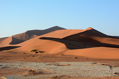 Namibia, Path to the Dune of Big Daddy in The Sossusvlei National Park