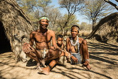 "Erindi San Village - ""CWI CWI"" San People #9 - Elder and Family"