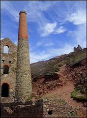 Towanroath pumping engine house, Wheal Coates tin mine.