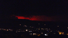 La Ravine-des-Cabris (974) Ile de la Réunion. 2 avril 2020. Eruption du Piton de la Fournaise.