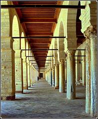 Kairouan : il doppio colonnato della moskea Ucba