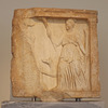 Votive Relief from Megara with Artemis in the National Archaeological Museum of Athens, May 2014