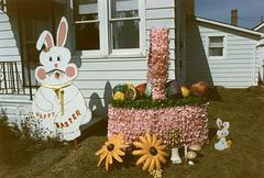 Easter Bunny and Basket Yard Art, Saginaw, Michigan, 1986