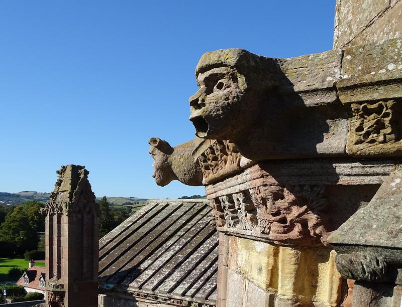 Melorose Abbey gargoyles