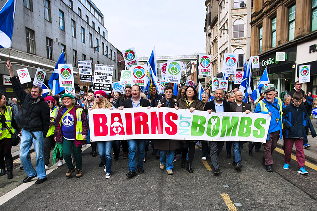 Anti-Trident Demo 2015, Glasgow