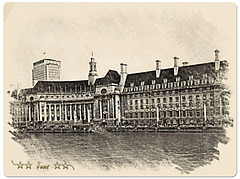 The former County Hall, London