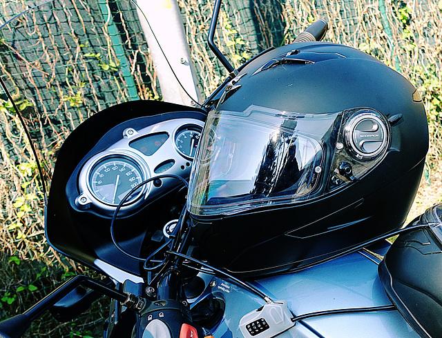 helmet at rest