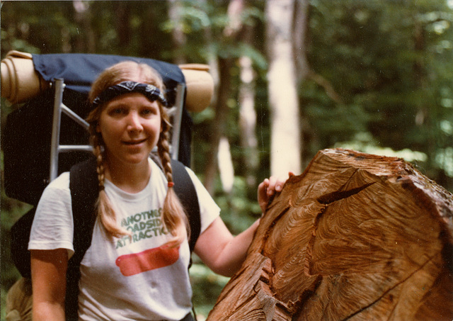 myself backpacking in the '80s