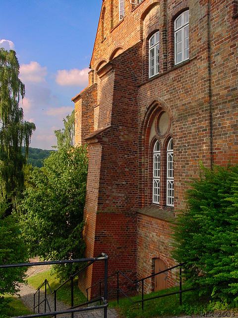 Ratzeburg, Westseite des Domklosters