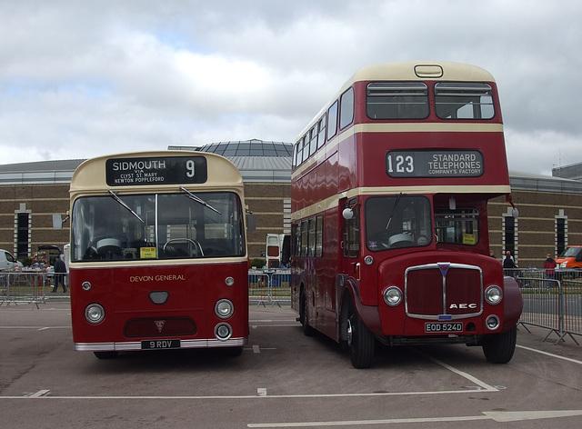 DSCF4704 Devon General 9 RDV and EOD 524D - 'Buses Festival' 21 Aug 2016