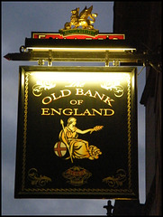 Old Bank of England sign
