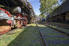 locomotive 52.8123 - sleeping steam