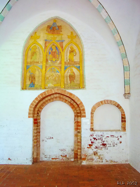 Ratzeburg, Wandmalerei im Kreuzgang des Domklosters