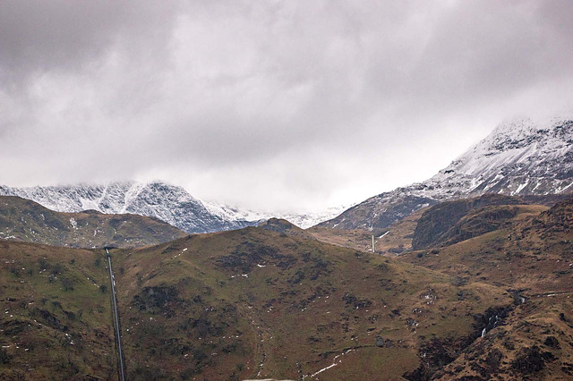 Snowdon earning its name )