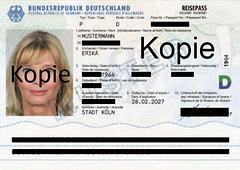 Reisepass Erika Mustermann