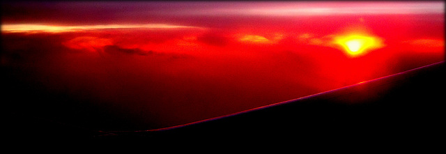 Wing edge and sunset, courtesy of Ryan Air