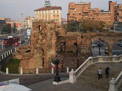 Ruins of ancient wall.