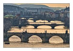 Fin de journée sur Prague