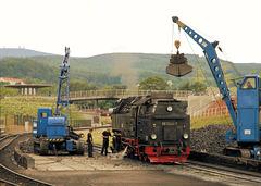 Brockenblick vom Bahnhof Wernigerode
