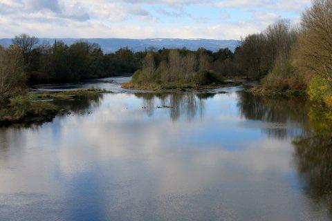 La Loire du côté de Montrond-les-Bains (Loire, France)