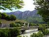 Autobahnbrücke über die Rhone bei Saint Maurice VS
