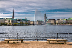 Hamburg City View with Inner Alster Basin (210°)