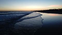 atardecer junto al mar