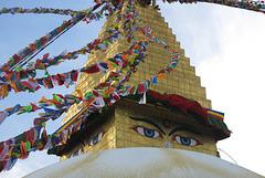 Le Grand Stupa, Bodnath = Boudhanath (Kathmandu, Népal)