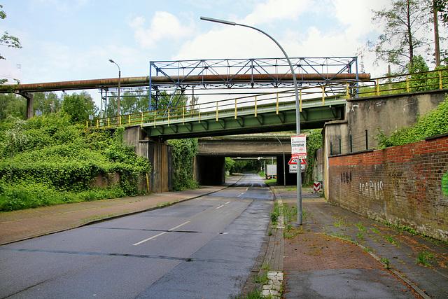 Feldhauser Straße mit Eisenbahnbrücken (Gelsenkirchen-Scholven) / 5.05.2019