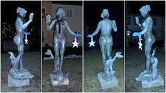 :-) Lichtblick im Dunkel - Elbnymphe von Pirna - radieto de espero en mallumo -Elbnimfo de Pirnao :-)