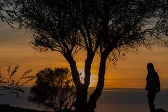 Contemplando la puesta del sol