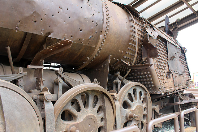 Steam Engine Riddled with Bullet Holes