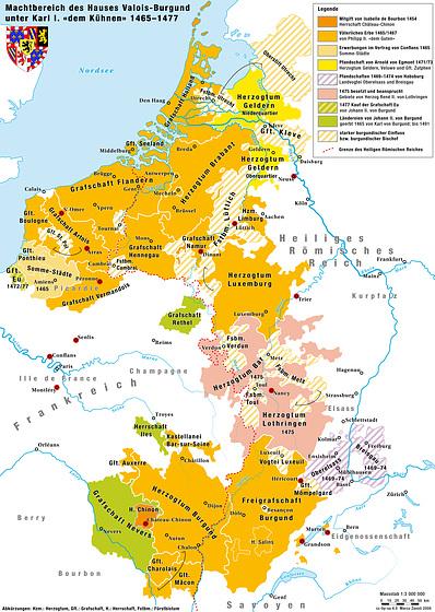 Karte Haus Burgund