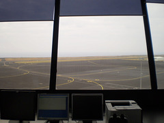 Control tower of runway.