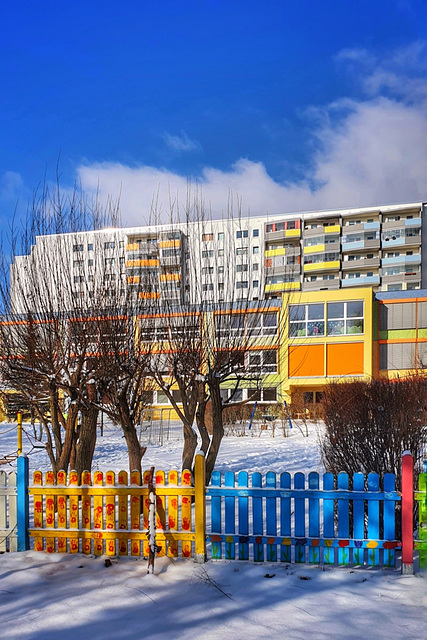 Plattenbau-Winter