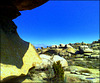 Blue sky and granite