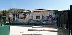 Mural of kindergarten.