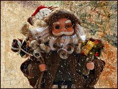 Hier j'ai rencontré le père Noël si si si .........♥