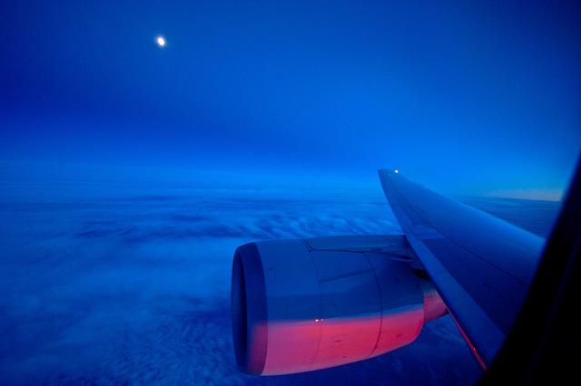 Moon over the Atlantic