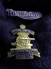 Triumph and Royal Enfield badges