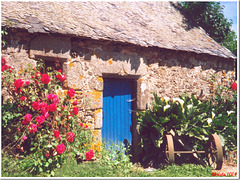 The blue door of the old cider cellar