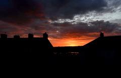 """Red sky at night, shepherd's delight"" (best viewed on black)."
