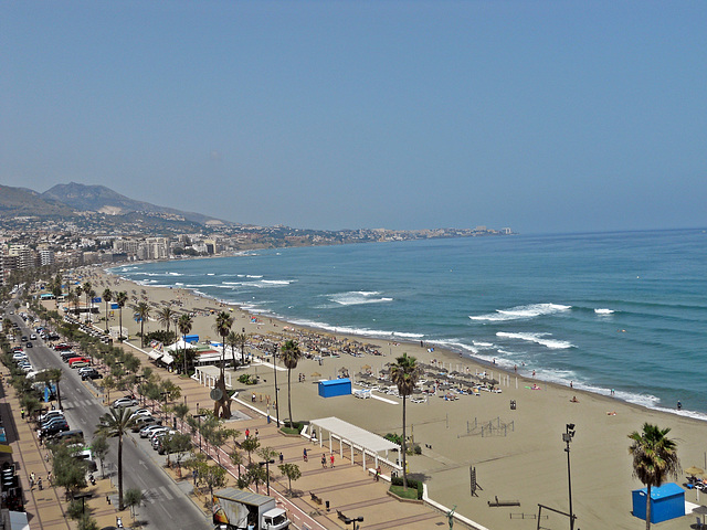 View from Hotel Yaramar Room Balcony,Fuengirola 1st June 2017