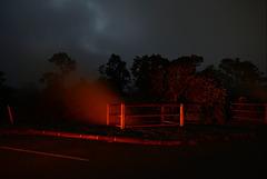 Mt. Kilauea Volcano at night