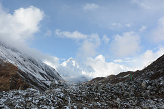 Cho Oyu (8201m) Appeared out of the Clouds